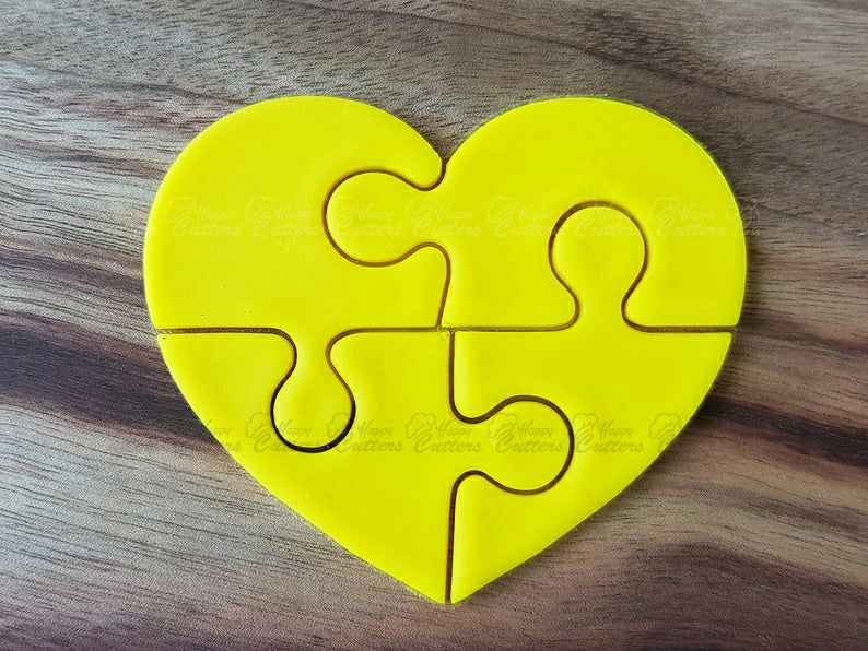 Heart Puzzle (4 pieces) Cookie Cutter,                       heart cookie cutter, heart shaped cookie cutter, heart cutter, heart shape cutter, mini heart cookie cutter, love heart cookie cutter, mary poppins cookie cutter, christmas truck cookie cutter, pokemon cookie cutters, geometric shape cutters, basketball jersey cookie cutter, football helmet cookie cutter, jojo siwa cookie cutter, christmas cookie cutters big w,