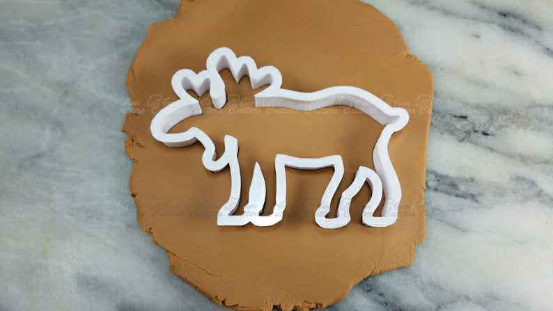 Moose Elk Cookie Cutter Outline #1 - SHARP EDGES - FAST Shipping - Choose Your Own Size!,                       animal cutters, animal cookie cutters, farm animal cookie cutters, woodland animal cookie cutters, elephant cookie cutter, dinosaur cookie cutters, bone cookie, giant heart cookie cutter, cake boss cookie cutters, ninja cookie cutters, small cookie cutters for dog treats, donald trump cookie cutter, fussy pup cookie cutters, rolling pin cutter,
