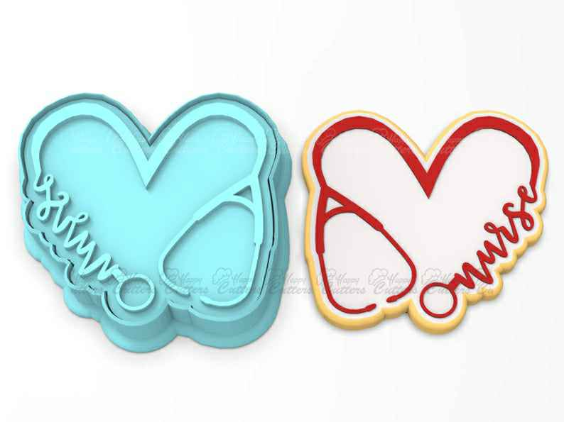 Nurse Heart  Cookie Cutter | Stamp | Stencil | SHARP EDGES - FAST Shipping - Choose Your Own Size!,                       heart cookie cutter, heart shaped cookie cutter, heart cutter, heart shape cutter, mini heart cookie cutter, love heart cookie cutter, semi truck cookie cutter, swimmer cookie cutter, cookie cutter bath bombs, ocean themed cookie cutters, semi truck cookie cutter, cloud shaped cookie cutter, wilton santa cookie cutter, acorn cookie cutter,