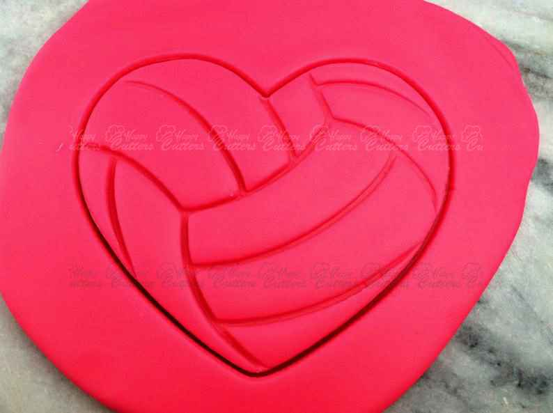 Volleyball Heart Cookie Cutter - SHARP EDGES - FAST Shipping - Choose Your Own Size!,                       heart cookie cutter, heart shaped cookie cutter, heart cutter, heart shape cutter, mini heart cookie cutter, love heart cookie cutter, woodland animal cookie cutters, ballerina cookie cutter, crown cookie cutter walmart, llama cookie cutter michaels, cookie cutter shop near me, star cookie cutter set, toucan cookie cutter, john deere cookie cutter,