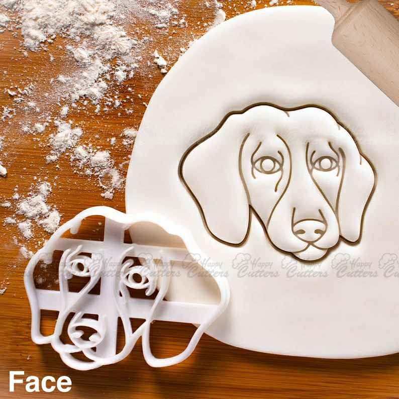 Short Haired Dachshund Face cookie cutter - Cute dog treats for doggy party,                       animal cutters, animal cookie cutters, farm animal cookie cutters, woodland animal cookie cutters, elephant cookie cutter, dinosaur cookie cutters, superman cookie cutter, superhero fondant cutters, mickey mouse cookie cutter hobby lobby, teapot cookie cutter, coco chanel cookie cutter, fondant cutters kmart, dog shaped cookie, novelty cookie cutters,