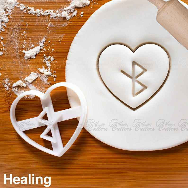 Nordic Rune - Healing cookie cutter |  biscuit cutters Heart Celtic norse runes viking magic charm incantation galdr symbol love,                       heart cookie cutter, heart shaped cookie cutter, heart cutter, heart shape cutter, mini heart cookie cutter, love heart cookie cutter, star cookie cutter tesco, star cookie cutter tesco, fire truck cookie cutter, necktie cookie cutter, letter e cookie cutter, star cookie cutter walmart, afro cookie cutter, thumbprint cookie cutter,
