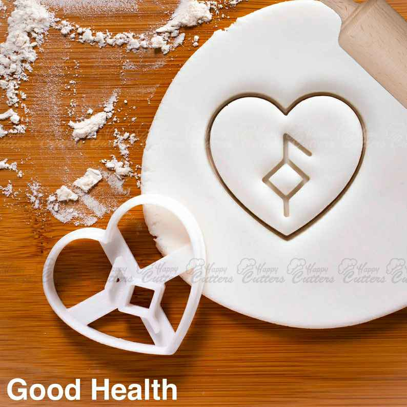 Nordic Rune - Good Health cookie cutter |  biscuit cutters Heart Celtic norse runes viking magic charm incantation galdr symbol love,                       heart cookie cutter, heart shaped cookie cutter, heart cutter, heart shape cutter, mini heart cookie cutter, love heart cookie cutter, cute cookie cutters, jojo siwa cookie cutter, keniao cookie cutters, mario cookie cutter, cookie cutters halloween, welsh dragon cookie cutter, scalloped rectangle cookie cutter, dog bone cookie,