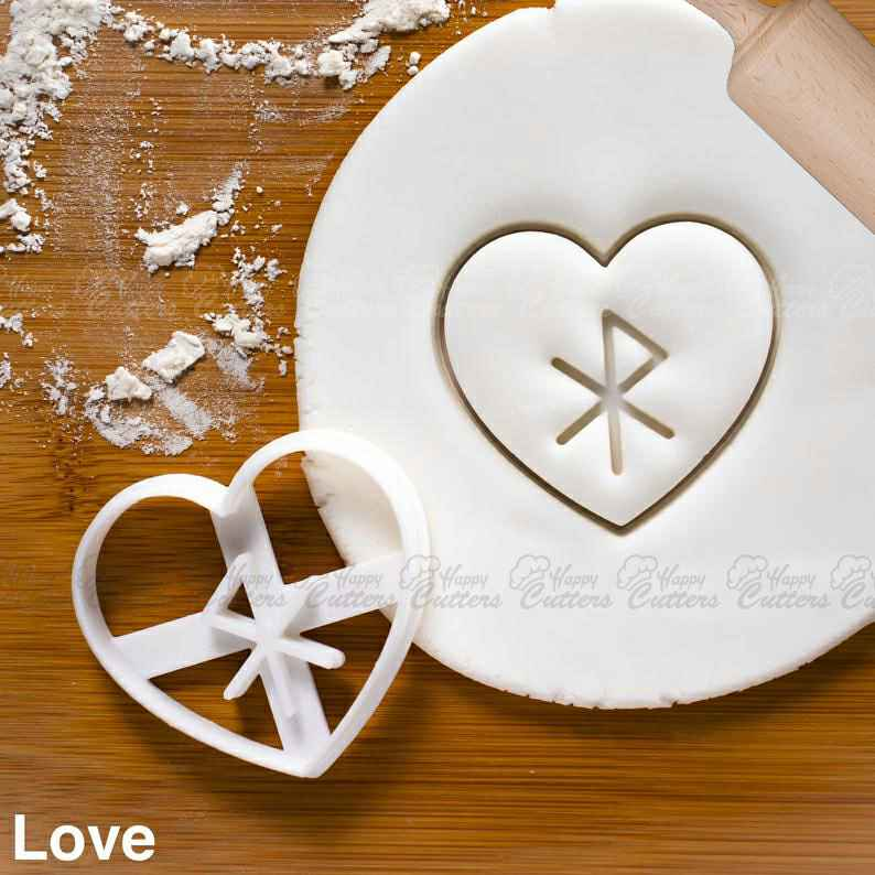 Nordic Rune - Love cookie cutter | biscuit cutters Heart Celtic norse runes viking magic charm incantation galdr symbol healing,                       heart cookie cutter, heart shaped cookie cutter, heart cutter, heart shape cutter, mini heart cookie cutter, love heart cookie cutter, helmet cookie cutter, sweet sugarbelle bus cutter, small metal cookie cutters, wilton gingerbread house cookie cutter, bee shaped cookie cutter, fleur de lis cookie, pennywise cookie cutter, cookie cutters kmart,