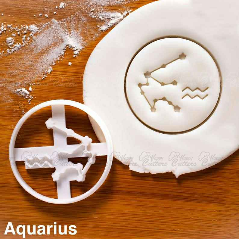 Aquarius cookie cutter |  biscuits cutters horoscope zodiac star sign sun moon Constellations astrological astrology celestial,                       star cookie cutter, star shaped cookie cutter, small star cookie cutter, star shape cutter, star fondant cutter, outer space cookie cutters, letter k cookie cutter, sports cookie cutters, letter shaped cookie cutters, jojo siwa cookie cutter, beer bottle cookie cutter, williams sonoma thumbprint cookie stamps, rat cookie cutter, bow cookie cutter,