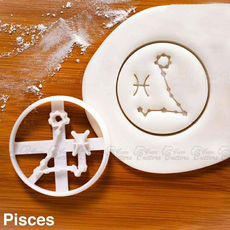 Pisces cookie cutter |  biscuits cutters horoscope zodiac star sign sun moon Constellations astrological astrology celestial,                       star cookie cutter, star shaped cookie cutter, small star cookie cutter, star shape cutter, star fondant cutter, outer space cookie cutters, parrot cookie cutter, wilton metal cookie cutters, dog bone cutter, irish cookie cutters, cookie cutter stores near me, strawberry cookie cutter, mermaid cutter, monkey cutter,