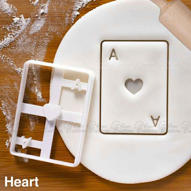 Ace of Hearts Poker Card cookie cutter - Ideal for Alice Adventures in Wonderland tea party,                       heart cookie cutter, heart shaped cookie cutter, heart cutter, heart shape cutter, mini heart cookie cutter, love heart cookie cutter, gingerbread man cutter argos, christmas playdough cutters, t shirt cookie cutter, toast cookie cutter, lakeland cookie cutters, mini fall cookie cutters, classic car cookie cutters, ninja gingerbread man cookie cutters,