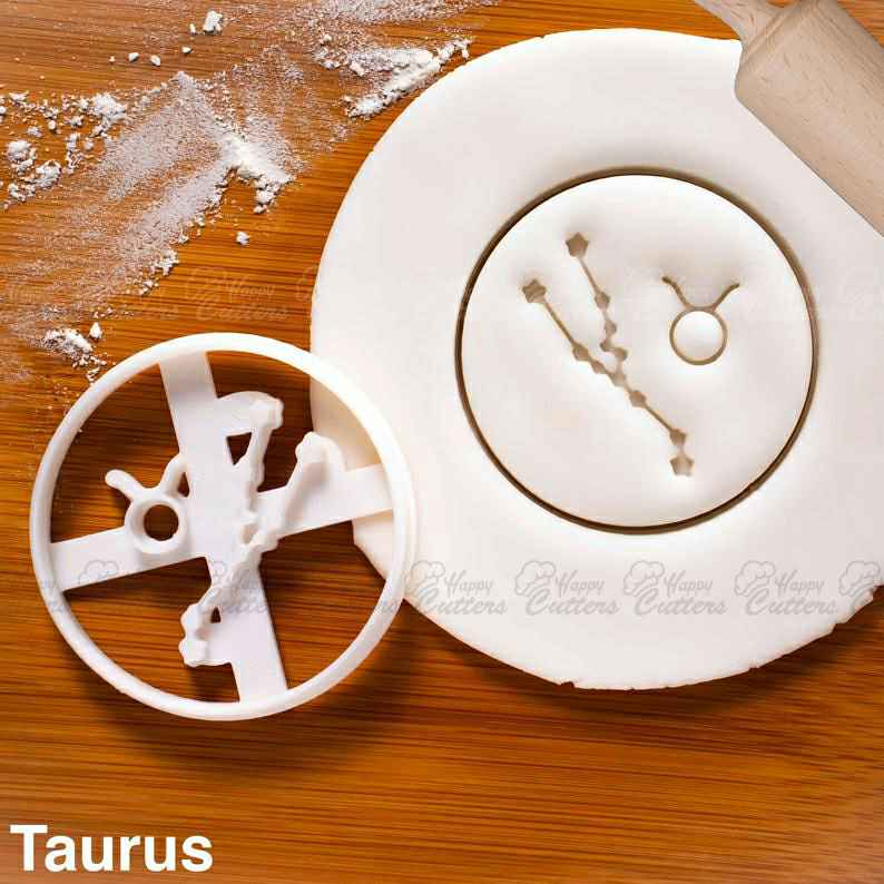 Taurus cookie cutter |  biscuits cutters horoscope zodiac star sign sun moon Constellations astrological astrology celestial,                       star cookie cutter, star shaped cookie cutter, small star cookie cutter, star shape cutter, star fondant cutter, outer space cookie cutters, b cookie cutter, eid cookie cutters, christening cookie cutters, mario brothers cookie cutters, seal cookie cutter, baby jesus cookie cutter, ikea cookie cutters, hobby lobby christmas cookie cutters,