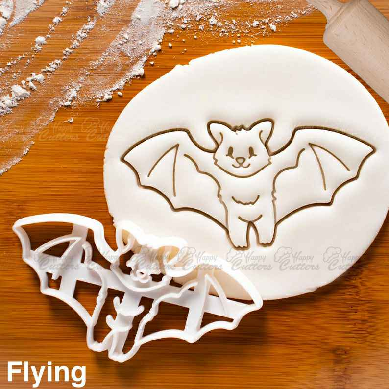 Flying Bat cookie cutter -  biscuit cutters for Halloween party,                       animal cutters, animal cookie cutters, farm animal cookie cutters, woodland animal cookie cutters, elephant cookie cutter, dinosaur cookie cutters, bear head cookie cutter, steampunk cookie cutters, old river road cookie cutters, christmas cookie cutters near me, minnesota cookie cutter, pink ribbon cookie cutter, superman cookie cutter, cinderella cookie cutters,