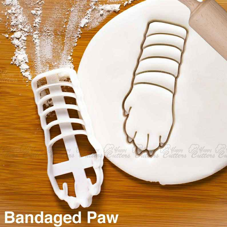 Bandaged Paw cookie cutter |  biscuit cutters Veterinary dog adoption drive pet lover puppy animal rescue vet veterinarian clinic,                       animal cutters, animal cookie cutters, farm animal cookie cutters, woodland animal cookie cutters, elephant cookie cutter, dinosaur cookie cutters, avengers fondant cutters, fall leaf cookie cutters, texas cookie cutter, turkey cookie cutter michaels, jersey cookie cutter, curious george cookie cutter, xmas cookie cutters kmart, nutcracker cookie cutter,