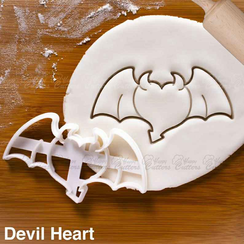 Heart with Devil Wings cookie cutter |  biscuit cutters love shape cookies fallen dark angel devil demon gothic horns Halloween,                       heart cookie cutter, heart shaped cookie cutter, heart cutter, heart shape cutter, mini heart cookie cutter, love heart cookie cutter, ninjago cookie cutter, plastic biscuit cutters, letter k cookie cutter, tombstone cookie cutter, candy cane cookie cutter, cross cookie cutter michaels, horseshoe cookie cutter, flamingo cutter,