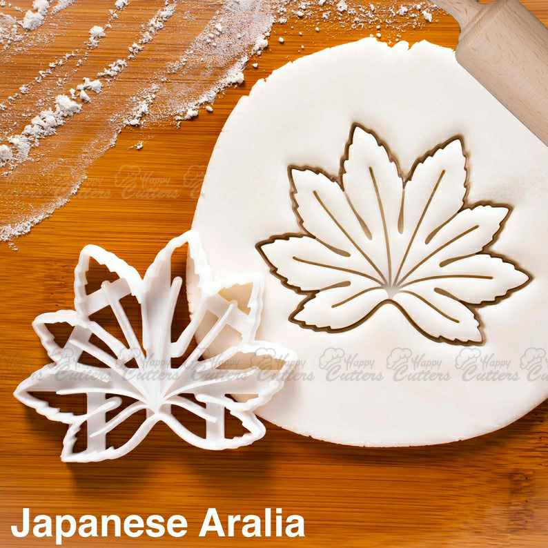 Japanese Aralia cookie cutter |  biscuit cutters Paperplant leaves houseplant plant garden party wedding leaf gardening birthday,                       fall cookie cutters, mini fall cookie cutters, wilton fall cookie cutters, leaf cookie cutter, maple leaf cookie cutters, leaf fondant cutter, 3 inch alphabet cookie cutters, llama cookie cutter, frenchie cookie cutter, varsity letter cookie cutters, flower cookie cutters, number 1 cookie cutter near me, family dollar cookie cutters, tulip cookie cutter,