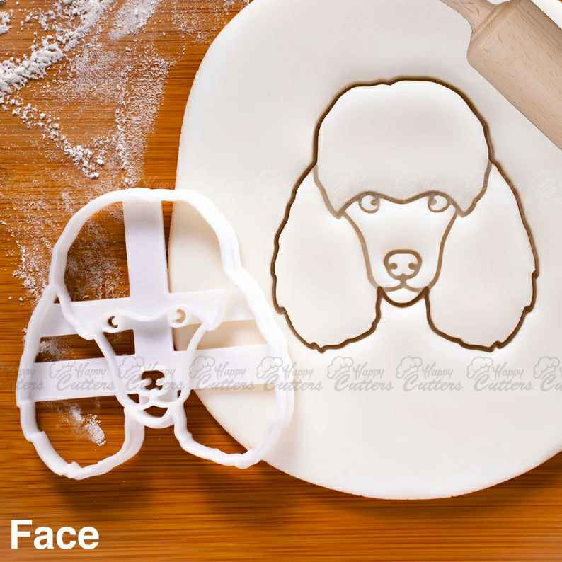 Poodle's Face cookie cutter | biscuit cutter | fondant cutter | clay cheese cutter | ooak smart water poodle dog breed poodles ,                       animal cutters, animal cookie cutters, farm animal cookie cutters, woodland animal cookie cutters, elephant cookie cutter, dinosaur cookie cutters, sweet sugarbelle products, charlie brown cookie cutters, large pumpkin cookie cutter, bobbi's cookie cutters, baby cutters, necktie cookie cutter, fruit and vegetable shape cutter, giant heart cookie cutter,