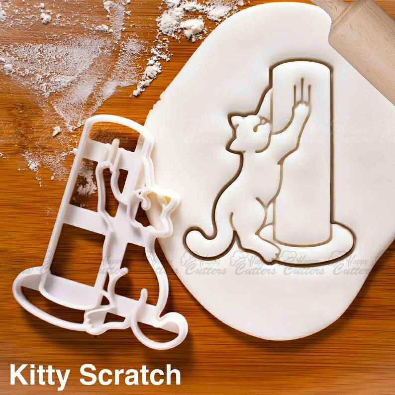 Kitty Scratch cookie cutter |  biscuit cutters cute happy cat body language behavior purrfect katze feline party roll butt buttock,                       animal cutters, animal cookie cutters, farm animal cookie cutters, woodland animal cookie cutters, elephant cookie cutter, dinosaur cookie cutters, cat in the hat cookie cutter, cooking cutter, fondant cookie stamps, cookie cutters walmart canada, flag cookie cutter, rectangle cookie cutter, gucci cookie cutter, star cookie cutter walmart,