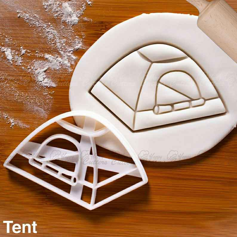 Tent Cookie Cutter |  biscuit cutters camping party outdoor adventure hunt backyard summer birthday campout countryside pitch,                       beach cookie cutters, beach themed cookie cutters, beach ball cookie cutter, summer cookie cutters, holiday cookie cutters, holiday cookie cutter set, real estate cookie cutters, bull cookie cutter, cat paw cookie cutter, otbp cookie cutters, bone cookie, harry potter letter cutters, spongebob cookie cutter, baby carriage cookie cutter,