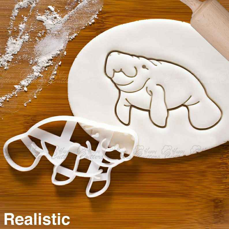 Realistic Manatee cookie cutter |  biscuit cutters sea cows river animal birthday party zoo baby shower Trichechus Wildlife,                       animal cutters, animal cookie cutters, farm animal cookie cutters, woodland animal cookie cutters, elephant cookie cutter, dinosaur cookie cutters, eagle cookie cutter, bread shape cutter, red plastic cookie cutters, martini glass cookie cutter, pusheen cat cookie cutter, mini gingerbread cutter, cookie cutter store, monkey cutter,
