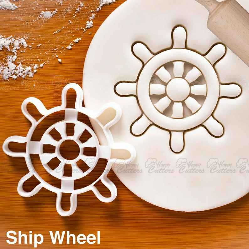 Ship Wheel cookie cutter |  Nautical theme biscuit cutters anchor marine wedding captain ocean ship adorable baby shower birthday party,                       ocean cookie cutters, ocean themed cookie cutters, mermaid cookie cutter, mermaid tail cookie cutter, little mermaid cookie cutters, mermaid cutter, graduation cap cookie cutter michaels, wedding dress cookie cutter michaels, vintage cookie stamps, chebakia cutter, cookies and cutters, flower cookie cutters, circus animal cookie cutters, lilo and stitch cookie cutters,