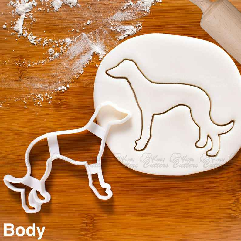 Greyhound Body cookie cutter |  biscuit cutters greyhounds birthday party fondant clay Veterinary vet gifts,                       animal cutters, animal cookie cutters, farm animal cookie cutters, woodland animal cookie cutters, elephant cookie cutter, dinosaur cookie cutters, letter biscuit cutters, cookie cutter world, princess dress cookie cutter, oval cookie cutter, tea bag cookie cutter, hippo cookie cutter, lipstick cutter, kitty cookie cutter,