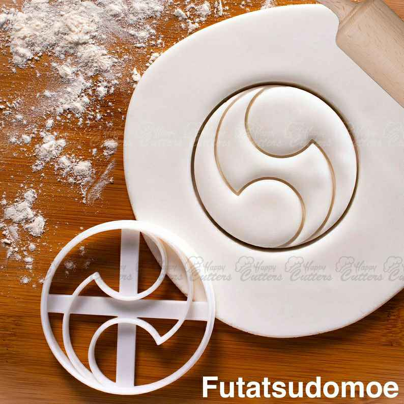 Futatsudomoe cookie cutter | Tomoe biscuit cutters Japanese shinto temple shrines yin yang interlocked flames cosmology mitsudomoe,                       plaque cookie cutter, plaque cookie, square plaque cookie cutter, cookie plaque, shape cutters, round cookie cutters, plaque cookie cutter, middle finger cookie cutter, oreo cookie stamp, autumn cookie cutters, halloween pastry cutters, 100 piece cookie cutter set, minnie mouse bow cookie cutter, small cookie cutters,