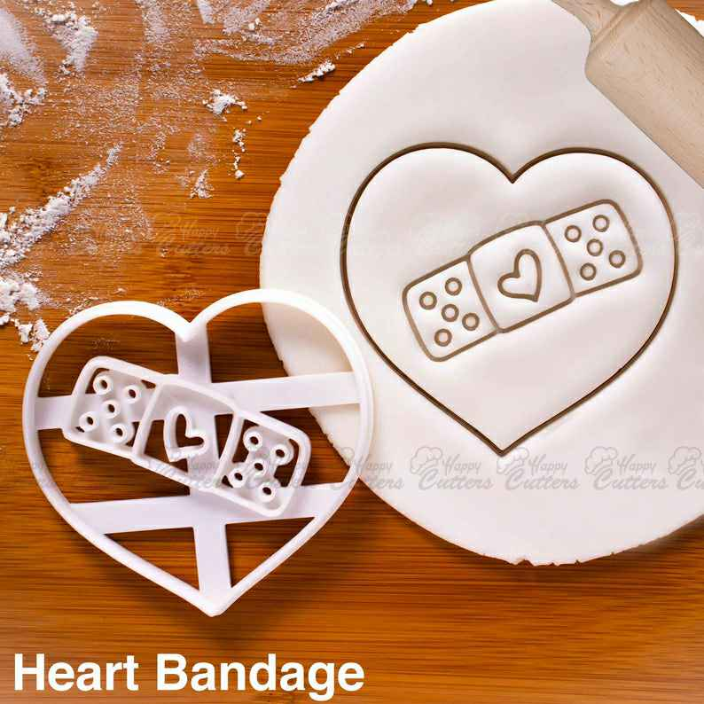 Heart Bandage cookie cutter |  biscuit cutters Gifts medical students nurses get well soon health student cute plaster love breakup,                       heart cookie cutter, heart shaped cookie cutter, heart cutter, heart shape cutter, mini heart cookie cutter, love heart cookie cutter, tinkerbell cookie cutter, power ranger cookie cutters, truck with christmas tree cookie cutter, snake cookie cutter, mason jar cookie cutter, paw patrol cutters, woodland animal cookie cutters, pickup truck cookie cutter,