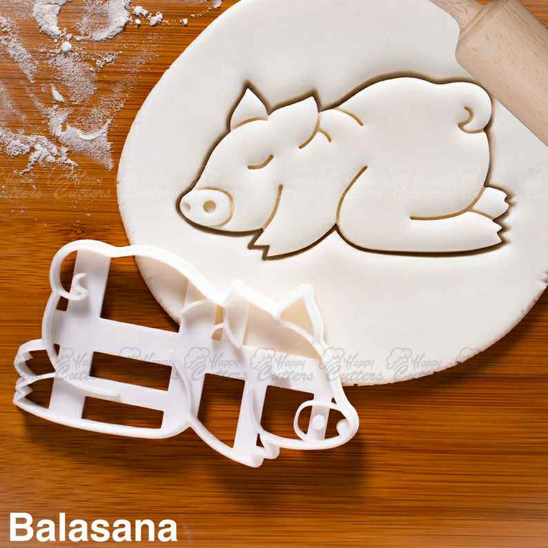 Yoga Pig Balasana Pose cookie cutter | biscuit biscuits cutters | sleeping beginner poses namaste Child's Resting Pose cute ooak ,                       animal cutters, animal cookie cutters, farm animal cookie cutters, woodland animal cookie cutters, elephant cookie cutter, dinosaur cookie cutters, halloween cutters, fussy pup cookie cutters, cookie cutter kids, tractor cookie cutter, rocket ship cookie cutter, jurassic park cookie cutter, new years eve cookie cutters, one piece cookie cutter,