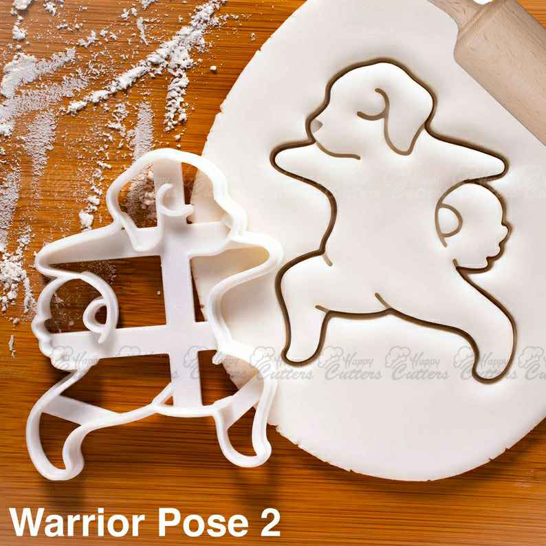 Yoga Dog Warrior Pose 2 cookie cutter | biscuit biscuits cutters Virabhadrasana fitness exercise poses puppy pupcake doggy treats ,                       animal cutters, animal cookie cutters, farm animal cookie cutters, woodland animal cookie cutters, elephant cookie cutter, dinosaur cookie cutters, afro cookie cutter, wrestling singlet cookie cutter, coles cookie cutters, flower shaped cookie cutter, dog bone cookie cutter target, leaf pastry cutters, small round cookie cutter, the range cookie cutters,