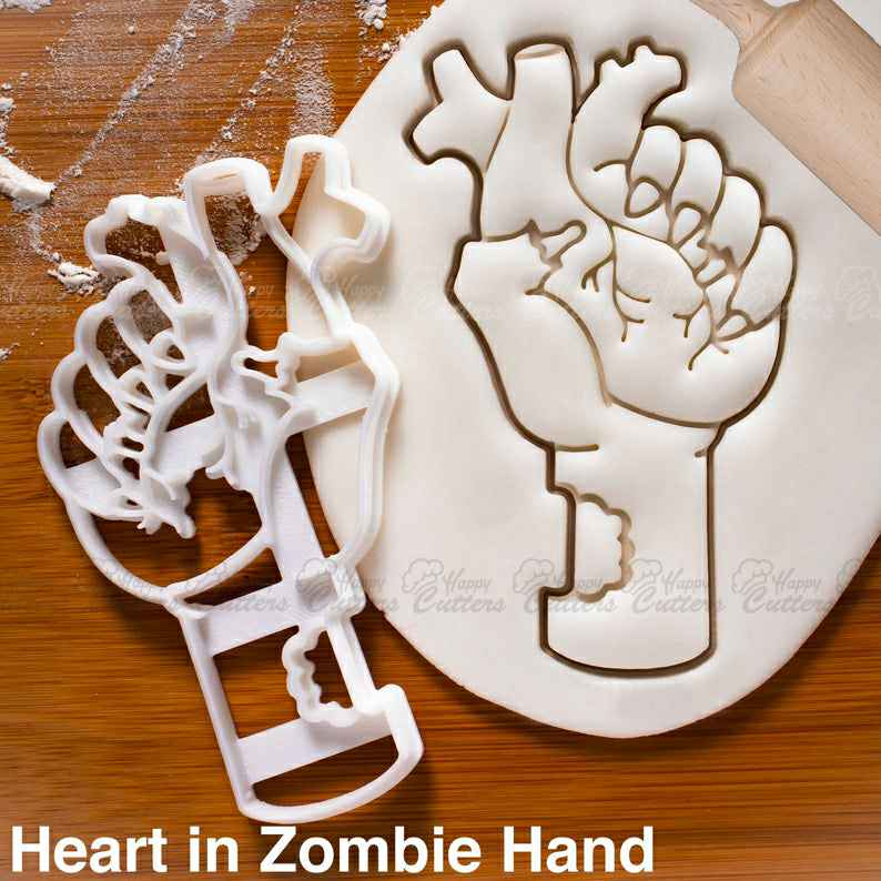 Heart in Zombie Hand cookie cutter |  biscuit cutters halloween party treats zombies attack survival apocalypse end of world snacks,                       heart cookie cutter, heart shaped cookie cutter, heart cutter, heart shape cutter, mini heart cookie cutter, love heart cookie cutter, sweet sugarbelle cookie cutters, dinosaur cookie cutter set, christmas themed cookie cutters, controller cookie cutter, malaysian cookie cutters, luau cookie cutters, oh baby cookie stamp, unicorn cookie cutter hobby lobby,