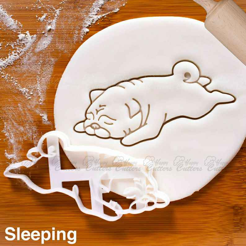 Sleeping Pug cookie cutter | biscuit cutter | fondant cutter | clay cheese cutter | dog ooak cute funny pugs monday blues パグ ,                       animal cutters, animal cookie cutters, farm animal cookie cutters, woodland animal cookie cutters, elephant cookie cutter, dinosaur cookie cutters, fruit shaped cookie cutters, star wars fondant cutters, truck with tree cookie cutter, python cookiecutter, lol cookie cutter, dress cookie cutter, winter cookie cutters, windmill cookie cutter,