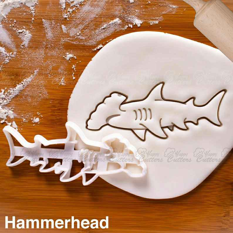 Hammerhead Shark cookie cutter |  biscuit cutters cookies realistic predator attack surfing Sphyrnidae endangered Conservation fin,                       animal cutters, animal cookie cutters, farm animal cookie cutters, woodland animal cookie cutters, elephant cookie cutter, dinosaur cookie cutters, embossed cookie stamps, baby cookie cutters michaels, square cookie cutter, tiny heart cookie cutter, llama cookie cutter michaels, toy story cutters, best cookie stamps, cookie cutter girl,