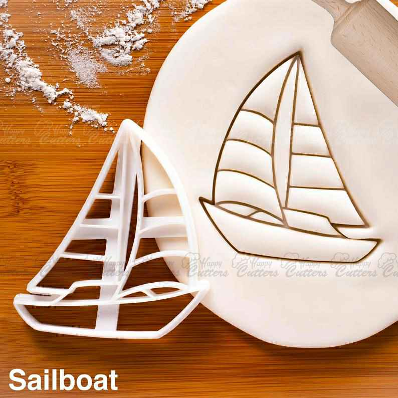 Sailboat cookie cutter | sail nautical baby shower cookies wedding birthday bachelorette party sailing ship boat maritime yacht bon voyage,                       airplane cookie cutter	, transport cookie cutters, ship cookie cutter, bicycle cookie cutter, bus cookie cutter, car cookie cutter, alphabet cookie cutters hobby lobby, christmas playdough cutters, fish cookie cutter michaels, fish shape cutter, dinosaur fossil cookie cutters, flag cookie cutter, best cookie cutters ever, cricut cookie cutter,
