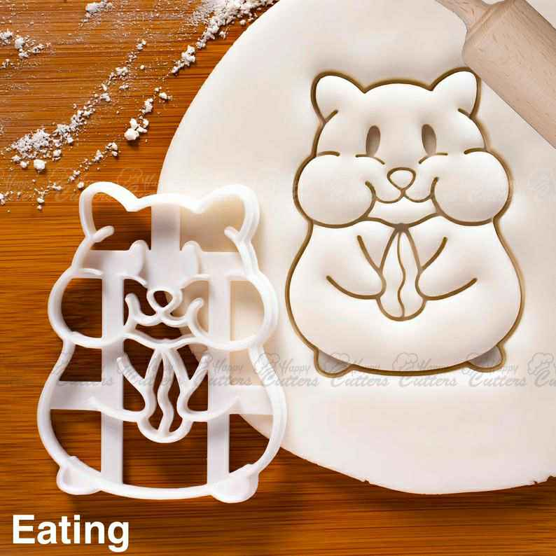 Hamster Eating cookie cutter - Bake cute animal themed Birthday Party or Kawaii Baby Shower,                       animal cutters, animal cookie cutters, farm animal cookie cutters, woodland animal cookie cutters, elephant cookie cutter, dinosaur cookie cutters, jojo siwa bow cookie cutter, crumbs cookie cutters, tie cookie cutter, boss baby logo cookie cutter, elsa cookie cutter, sweet sugarbelle christmas, buy christmas cookie cutters, sweet sugarbelle birthday set,