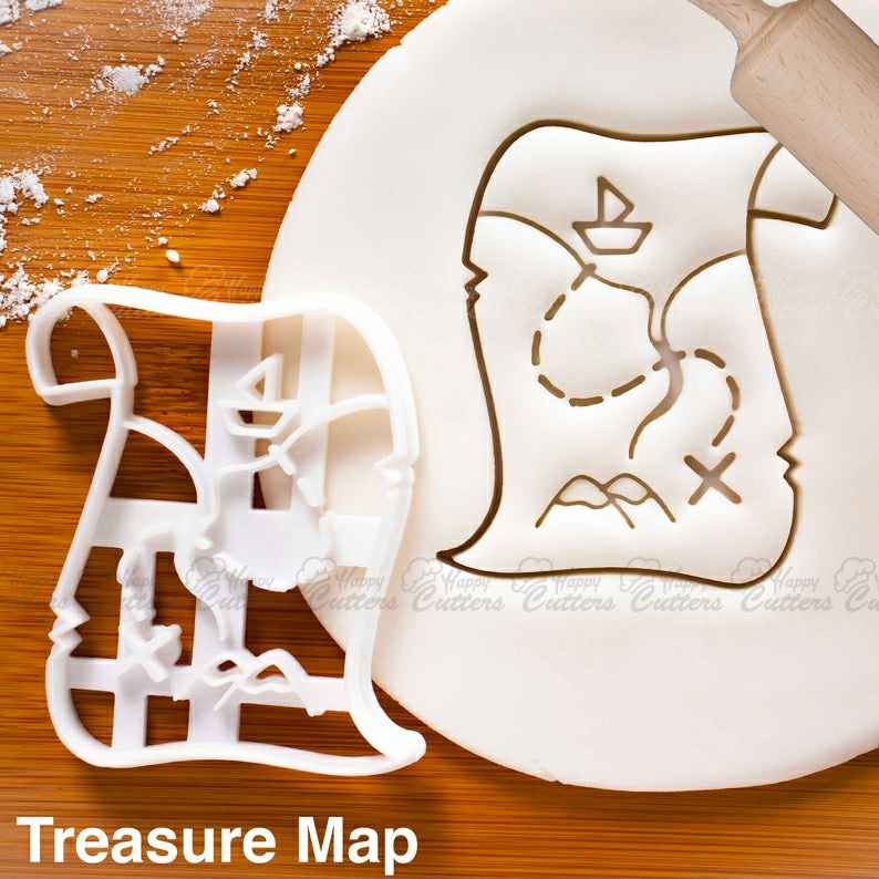 Treasure Map cookie cutter | nautical beach baby shower cookies kids birthday party clues ideas vintage game Scavenger hunt pirate flag maps,                       pirate cookie cutter, knight cookie cutter, pirate ship cookie cutter, castle cookie cutter, crown cookie cutter, axe cookie cutter, 1 inch square cookie cutter, ecrandal cookie cutters, cracker cutter, plaque cookie cutter, wrench cookie cutter, suitcase cookie cutter, bunny cookie cutter michaels, chanel fondant cutter,