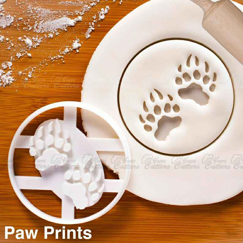 Bear Paw Prints cookie cutter | biscuit cutter | animals cookies cutters | gingerbread craft ooak claws grizzly bears animal | ,                       animal cutters, animal cookie cutters, farm animal cookie cutters, woodland animal cookie cutters, elephant cookie cutter, dinosaur cookie cutters, small shape cutters, science cookie cutters, spoon shaped cookie cutter, wilton fall cookie cutters, cookie cutters for sale, notre dame cookie cutter, construction cookie cutters michaels, family dollar cookie cutters,