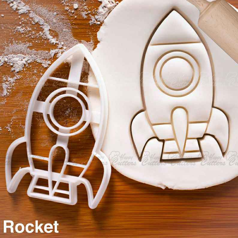 Spacecraft & other Space themed cookies cutters | biscuits fondant clay cheese sugarpaste marzipan mould cutter one of a kind spaceman ooak,                       airplane cookie cutter	, transport cookie cutters, ship cookie cutter, bicycle cookie cutter, bus cookie cutter, car cookie cutter, sand dollar cookie cutter, small gingerbread house cutters, dinosaur cookie cutters michaels, door cookie cutter, fruit shaped cookie cutters, 2019 graduation cookie cutters, fancy letter cookie cutters, wilton plastic cookie cutters,