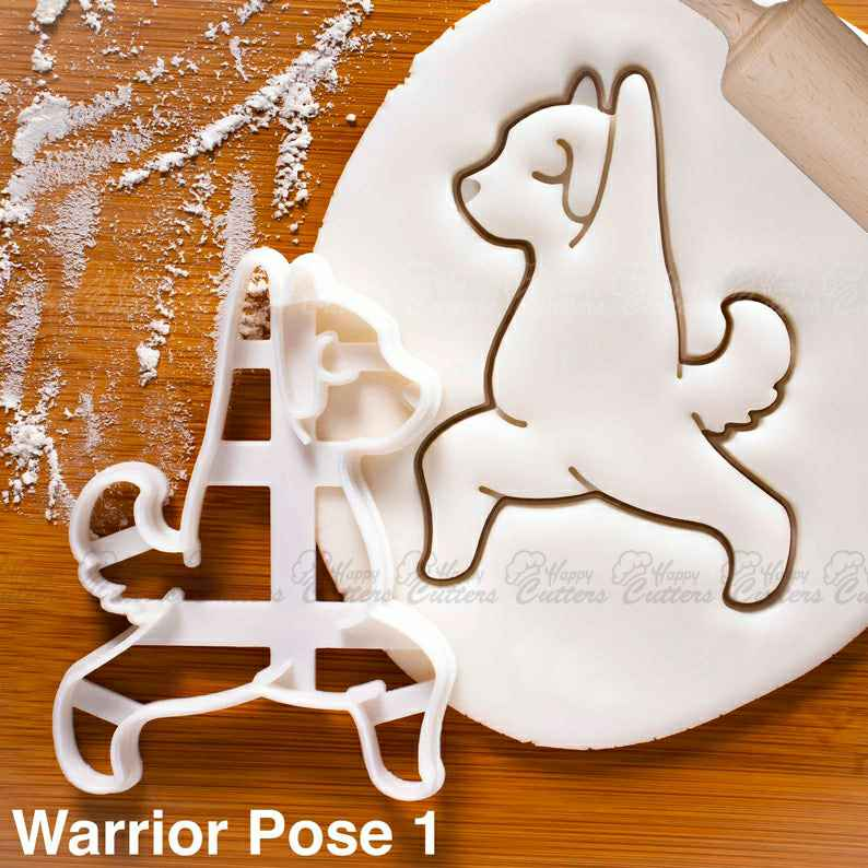 Yoga Dog Warrior Pose 1 cookie cutter | biscuit biscuits cutters Virabhadrasana fitness exercise poses puppy pupcake doggy treats ,                       animal cutters, animal cookie cutters, farm animal cookie cutters, woodland animal cookie cutters, elephant cookie cutter, dinosaur cookie cutters, toy story alien cookie cutter, peppa pig cookie cutter and stamp set, half circle cookie cutter, christmas bulb cookie cutter, animal shape cutters, tree shaped cookie cutters, double heart cookie cutter, cheap cookie cutters canada,
