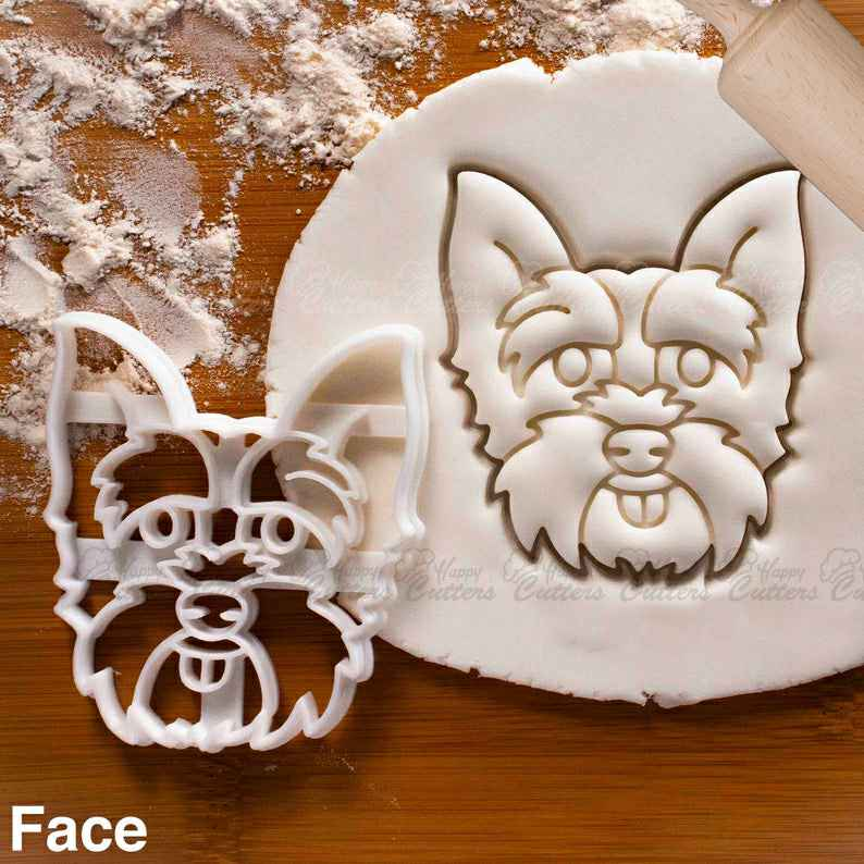Yorkshire Terrier Face cookie cutter | cute fluffy Yorkie dog biscuit fondant clay  cutter,                       animal cutters, animal cookie cutters, farm animal cookie cutters, woodland animal cookie cutters, elephant cookie cutter, dinosaur cookie cutters, k cookie cutter, fluted rectangle cookie cutter, pickle cookie cutter, diamond ring cookie cutter, stormtrooper cookie cutter, freddie mercury cookie cutter, gruffalo biscuit cutter, industrial cookie cutter,