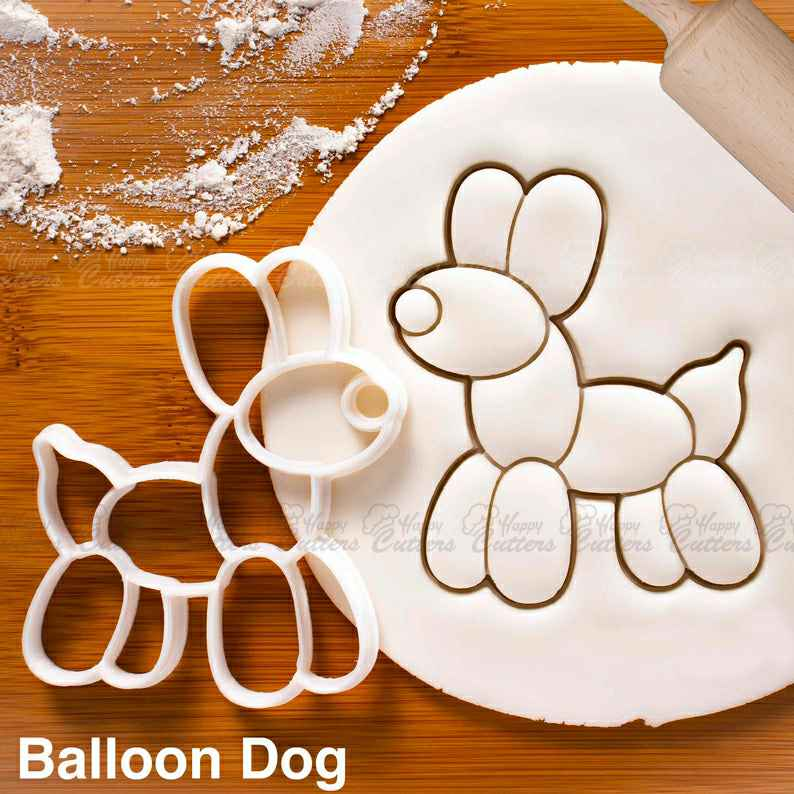 Balloon Dog cookie cutter - Bake cute biscuits for birthday party or baby shower favors,                       animal cutters, animal cookie cutters, farm animal cookie cutters, woodland animal cookie cutters, elephant cookie cutter, dinosaur cookie cutters, dna cookie cutter, running shoe cookie cutter, mini cookie cutters michaels, dallas cowboys cookie cutter, peace sign cookie cutter, cookie cutters walmart canada, crawfish cookie cutter, dirt bike cookie cutter,