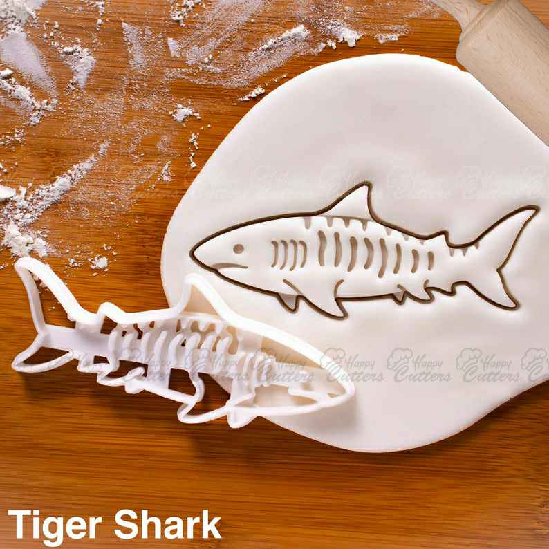 Tiger Shark cookie cutter |  biscuit cutters cookies realistic predator attack surfing Galeocerdo endangered Conservation Hawaii,                       animal cutters, animal cookie cutters, farm animal cookie cutters, woodland animal cookie cutters, elephant cookie cutter, dinosaur cookie cutters, triceratops cookies, champagne bottle cookie, food shape cutters, martha stewart cookie cutters, sinful cookie cutters, splash cookie cutter, pitbull cookie cutter, baby boy cookie cutters,