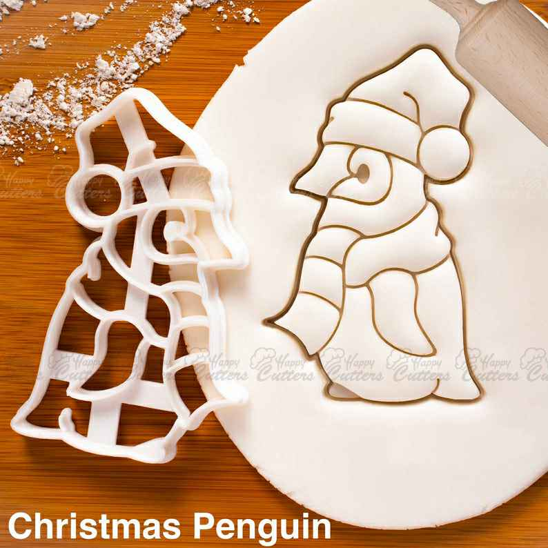 Christmas Baby Penguin cookie cutter - Cute Antarctica Animal themed Xmas winter festive party,                       animal cutters, animal cookie cutters, farm animal cookie cutters, woodland animal cookie cutters, elephant cookie cutter, dinosaur cookie cutters, polo cookie cutter, shirt cookie cutter, dog bone cookie cutter michaels, santa hat cookie cutter, sweet sugarbelle cookie cutters christmas, cookiecutter python, mrs claus cookie cutter, lol surprise cookie cutter,