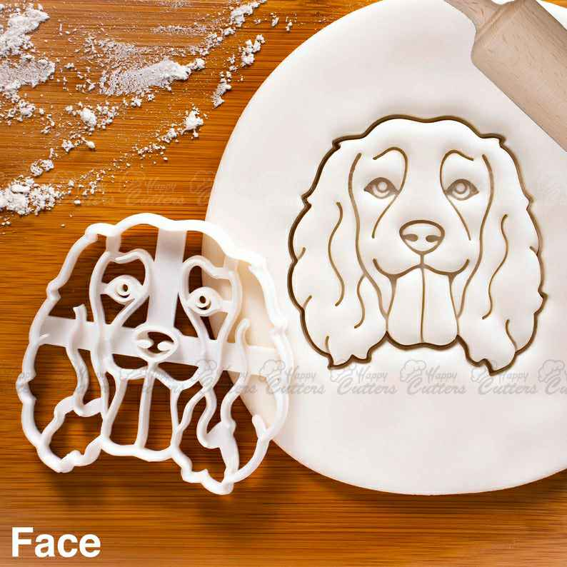 Working Cocker Spaniel Face cookie cutter - Bake cute dog treats for doggy party,                       animal cutters, animal cookie cutters, farm animal cookie cutters, woodland animal cookie cutters, elephant cookie cutter, dinosaur cookie cutters, small heart shaped cookie cutter, dog bone cookie cutter michaels, onesie cookie cutter, elvis cookie cutter, copper christmas cookie cutters, plaque cookie cutter, voodoo doll cookie cutter, turtle cookie cutter,
