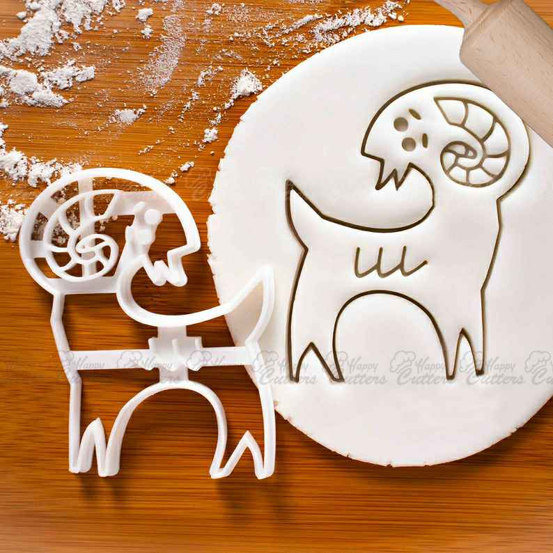 Ram cookie cutter: biscuit cutter male sheep,                       animal cutters, animal cookie cutters, farm animal cookie cutters, woodland animal cookie cutters, elephant cookie cutter, dinosaur cookie cutters, gingerbread cookie cutters, yoga cookie cutters, hexagon cookie cutter big w, square cookie cutter, wedding dress cookie cutter, sweet sugarbelle christmas platter set, tovolo cookie cutters, trolley cookie cutter,