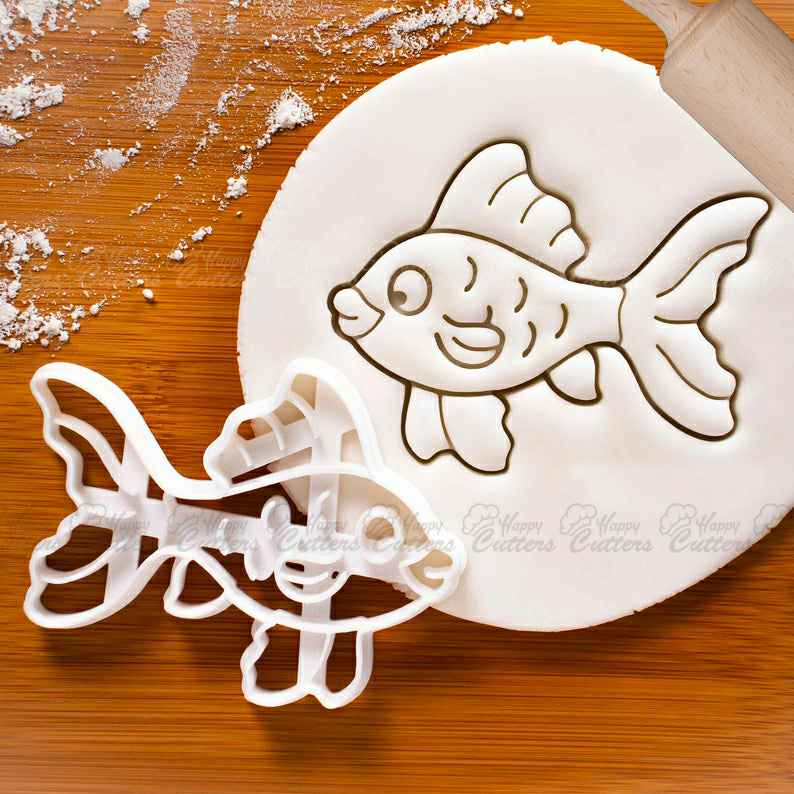 Goldfish cookie cutter | cute aquarium pets freshwater tank fish theme biscuit cutters kids birthday pool party ideas swimming ,                       animal cutters, animal cookie cutters, farm animal cookie cutters, woodland animal cookie cutters, elephant cookie cutter, dinosaur cookie cutters, personalized cookie cutter stamp, festive cookie cutters, easter biscuit cutters, lips cookie cutter, weed leaf cookie cutter, watering can cookie cutter, my little pony cookie cutter, pokemon cookie cutter set,