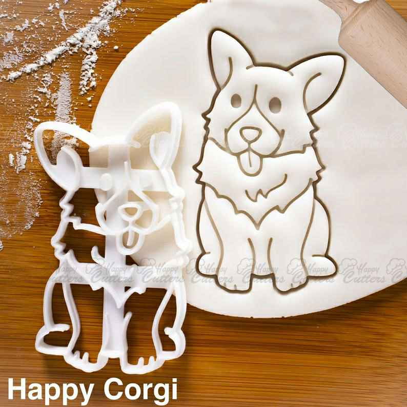 Happy Corgi cookie cutter | Farm Animals | cute fluffy profile Pembroke Welsh dog butts biscuit fondant clay one of a kind ooak ,                       animal cutters, animal cookie cutters, farm animal cookie cutters, woodland animal cookie cutters, elephant cookie cutter, dinosaur cookie cutters, winnie the pooh cookie cutter set, mermaid tail cookie cutter, michael jackson cookie cutter, light bulb cookie cutter, mason jar cookie cutter, westie cookie cutter, trolls cookie cutter, t rex cookie cutter,
