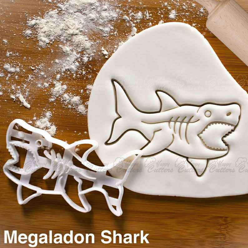 Megalodon Shark cookie cutter | biscuit design cookies realistic tooth extinct predator attack surfing cutters craft ooak ,                       animal cutters, animal cookie cutters, farm animal cookie cutters, woodland animal cookie cutters, elephant cookie cutter, dinosaur cookie cutters, biscuit letter stamp, penguin cookie cutter, snowflake biscuit cutter, baby cookie cutter set, biscuit rolling crimp cutter, feather cookie cutter, miniature cookie cutters, santa sleigh cookie cutter,