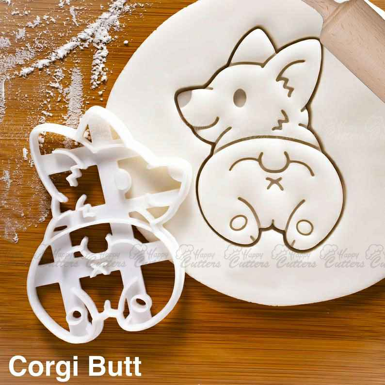 Corgi Butt cookie cutter | Farm Animals | cute fluffy Pembroke Welsh dog butts biscuit fondant clay cutter one of a kind ooak,                       animal cutters, animal cookie cutters, farm animal cookie cutters, woodland animal cookie cutters, elephant cookie cutter, dinosaur cookie cutters, etsy kaleidacuts, cookie cat cutter, dinosaur biscuit cutters, leg lamp cookie cutter, raven cookie cutter, spade cookie cutter, avocado cookie cutter, stormtrooper cookie cutter,