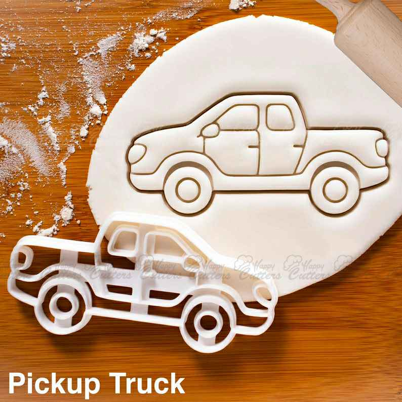 Pickup Truck cookie cutter |  biscuit cutters camper van caravan classic automobile collector automotive wheels birthday party,                       airplane cookie cutter	, transport cookie cutters, ship cookie cutter, bicycle cookie cutter, bus cookie cutter, car cookie cutter, lakeland cake cutter, easter cookie cutters, air force cookie cutter, thanksgiving cookie cutters walmart, cookie shapes, sweet 16 cookie cutter, forky cookie cutter, thumbprint cookie stamps,