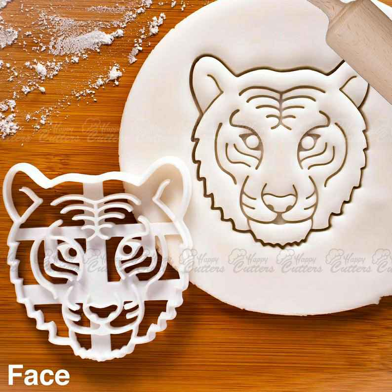 Tiger Face cookie cutter | biscuit fondant clay cutters animal wildlife conservation tiger tigers cat endangered predator bengal siberian,                       animal cutters, animal cookie cutters, farm animal cookie cutters, woodland animal cookie cutters, elephant cookie cutter, dinosaur cookie cutters, disney cutters, frida kahlo cookie cutter, mickey mouse cutter, peter rabbit cookie kit, ps4 cookie cutter, cookie cutter near me, dog shaped cookie, groot cookie cutter,