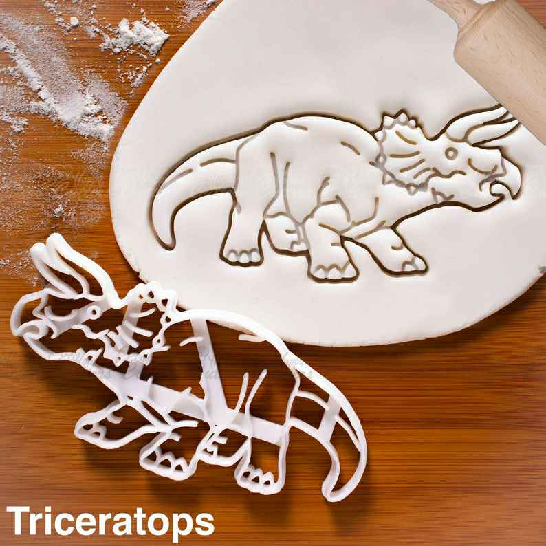 Triceratops Dinosaur cookie cutter |  biscuit cutters Triceratop dinosaurs jurassic,                       animal cutters, animal cookie cutters, farm animal cookie cutters, woodland animal cookie cutters, elephant cookie cutter, dinosaur cookie cutters, diamond cookie cutter, ambulance cookie cutter, train cookie cutter, scandinavian cookie stamps, peter rabbit cookie cutter, batman fondant cutter, puzzle piece cutter, scalloped rectangle cookie cutter,