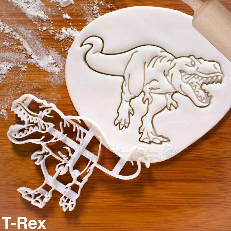 T-Rex Dinosaur cookie cutter |  biscuit cutters Tyrannosaurus rex dinosaurs,                       animal cutters, animal cookie cutters, farm animal cookie cutters, woodland animal cookie cutters, elephant cookie cutter, dinosaur cookie cutters, pug cookie cutter, cat shaped cookie cutter, stethoscope cookie cutter, halloween pastry cutters, mustang cookie cutter, greek cookie cutters, nutcracker cookie cutter, globe cookie cutter,