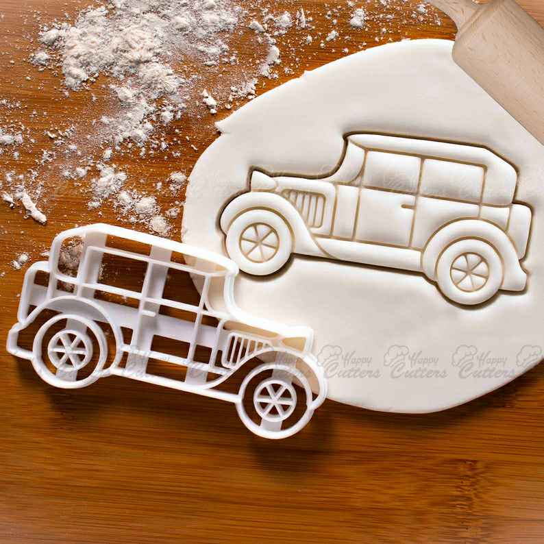 Vintage Car cookie cutter |  biscuit cutters retro classic automobile collector automotive wheels birthday party vehicle transport,                       airplane cookie cutter	, transport cookie cutters, ship cookie cutter, bicycle cookie cutter, bus cookie cutter, car cookie cutter, diy cookie cutter, fire truck cookie cutter, dachshund cookie cutter, wild one cookie cutters, tesla cookie cutter, pampered chef easter cookie cutters, weed plant cookie cutter, shortbread cookie cutter,